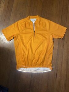 Cannondale Cycling Jersey Womens Small Orange Half Zip