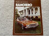 1976 Ford Ranchero Sales Brochure