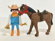 Playmobil Western Ranch Riding Stables Farm Modern Male Rider Figure Horse