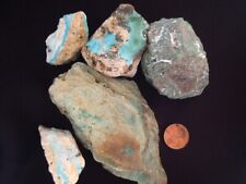 Turquoise stones from the Nishapur Mines in Iran - Total weight 3.5 lbs