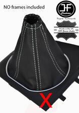 BLANC COUTURE SOUFFLET LEVIER DE VITESSE CUIR POUR FORD MONDEO MK3 III 01-03