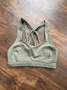 Lululemon Free To Be Serene Bra Sage Green Size 4