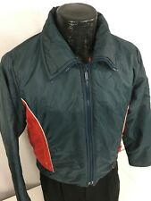 Vtg 70 80's Sears Men Blue Red Puffer Snow Ski Coat Snap Back Winter Jacket M