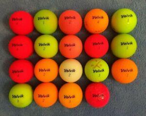 19 Used Colored & White Volvik Vivid, Vimax, Marvel + More Golf Balls  3A - 5A