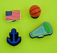 Crocs Jibbitz Charms *3-D Basketball-Anchor-Flag-Megaphone **ALL 4 for $8.99 NEW