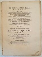 JOSEPH SERAPHIM ECCLESIASTICI JURIS SCIENTIA CLERO DIRITTO ECCLESIASTICO 1779