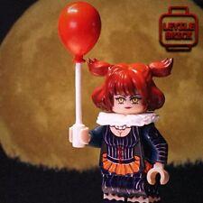 ⎡LEYILE BRICK⎦ Halloween Custom Evil Clown Girl Lego Minifigure