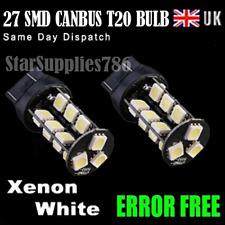 2x T20 CANBUS LED BULBS ERROR FREE XENON WHITE T20 580 SIDELIGHT & BRAKE BULBS