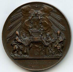 PAPAL STATES PIUS IX 1860 FIDEI REGULA CATHOLIC RELIGION BRONZE MEDAL BY BIANCHI