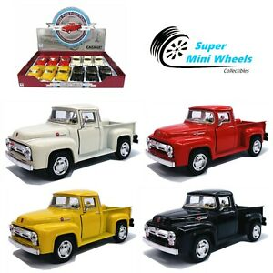 """Kinsmart 1:36 - 1956 Ford F-100 Pickup - 5"""" Diecast Toy Car - 4 Colors"""