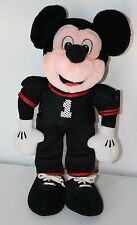 """Disney 14"""" Mickey Mouse Football Player Plush Black and Red Stuff Animal"""