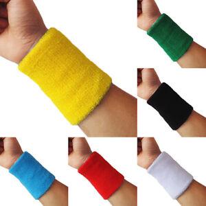 1x Sports Wrist Sweatband Tennis Squash Badminton GYM Basketball Wristband Gift