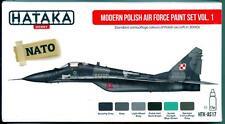 Hataka Hobby Paints MODERN POLISH AIR FORCE Acrylic Paint Set