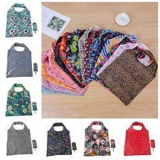 Reusable Foldable Shopping Bag Eco Flower Tote Handbag Fold Away Ladies Clip