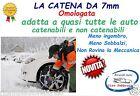 Catene neve 7mm per Bmw Serie 3 Touring (E91) Pneumatico 255/40R17