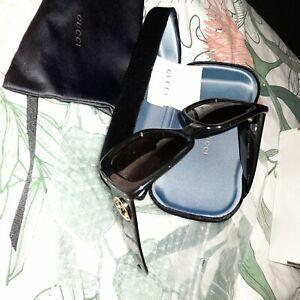 Gucci womens sunglasses black brand new