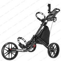 CaddyTek EZ-Fold 3 Wheel Golf Push Cart Golf Trolley --Dark Grey **NEW**