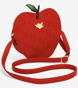 Loungefly Disney Snow White Crossbody Red Apple Embossed Bag