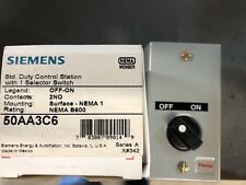 Siemens 50AA3C6 Off On Nema 1 Selector Switch