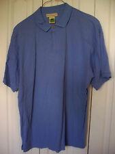 EUC XL Bacic Elements  Mens Blue Polo Shirt Short Sleeve Polo Dress Casual Shirt