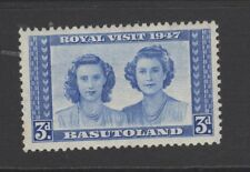 BASUTOLAND 1947 3d BLUE ROYAL VISIT Mint Never Hinged