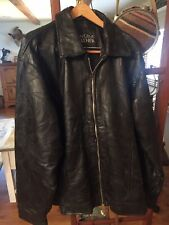 genuine Navarre leather motorcycle jacket with Eagle - Flag- USA
