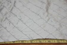 "50"" Wide Silk Taffeta Fabric-Embroidered & Pearled  Ivory 100% Silk by the yard"