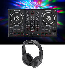 Numark Party Mix DJ Controller w/ Built In Light Show + Samson Headphones