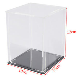 Acrylic Display Case Self-Assembly Clear Cube Box UV Dustproof Toy Protectit FY