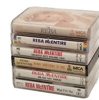 LOT OF 6 REBA MCENTIRE CASSETTE LOTS ~ READ MY MIND GREATEST HITS VOLUME 2 LIVE