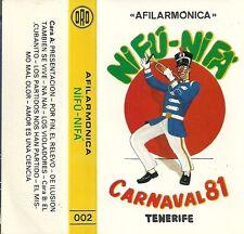 Casete Afilarmónica Ni Fu Ni Fa 1981.Carnaval Santa Cruz de Tenerife.Canarias.