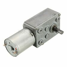 12V 24rpm Square Speed Gear Box Worm Geared DC Motor High Torque 370 Motor Tw
