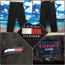 Vintage Tommy Hilfiger Carpenter Black Jeans 90's Baggy Mens 32 W X 30 L