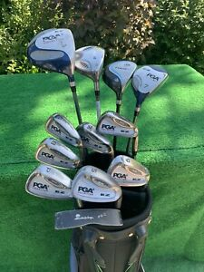 Lady RH PGA EZ Golf Club Set Irons Woods Bag Graphite Lady Flex