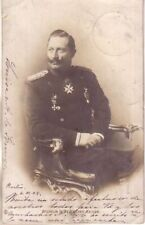 Germany - 1904 Wilhelm II Deutscher Kaiser used real photo postcard