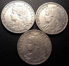 France - IIIème République - lot de x3 25 centimes Patey 1903,1904 et 1905 !