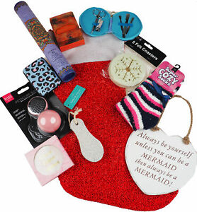 Ladies Pre Filled Christmas Stocking Stuffed With 10 Mystery Girly Gifts