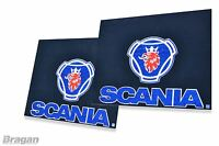 To Fit Scania UV Rubber Rear Mudflap Mudguards Mud Flaps Blue 60x50cm Set of 2