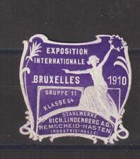 Belgium Poster Stamp Brussels 1910 Trader Details