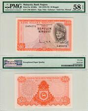 Malaysia $10 P#9a (1972-1976) 2nd Series PMG 58 EPQ