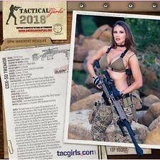 Tactical Girls 2018 Gun Calendar Soldier Sailor Marine LEO Shooter Airsoft gift