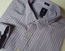 Victorinox Swiss Army Long Sleeve Button Front Shirt XL Tailored Purple Striped