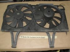 97 1997 Mercedes E320 W210 DUAL ELECTRIC RADIATOR COOLING FAN WITH SHROUD TESTED