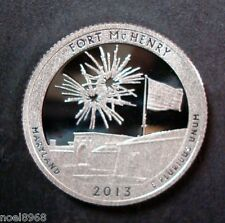 """2013-S 90% SILVER PROOF """"FORT McHENRY"""" AMERICA THE BEAUTIFUL QUARTER ULTRA CAMEO"""