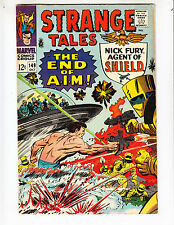 """Strange Tales 149 F+ (6.5)10/66 Nick Fury in """"The End of Aim!"""" No Reserve!"""