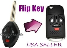 Mitsubishi Flip Key Replacement Housing Shell Case 4 Button Blank Uncut USA