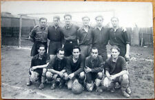 1930s Realphoto Postcard - Football/Soccer Team in front of Goal