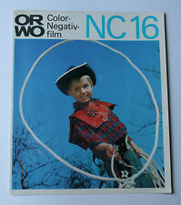 Sammlungsauflösung Prospekt Katalog: ORWO Color-Negativfilm NC 16 VEB Filmfabrik