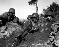 AMERICAN SOLDIERS IN THE KOREAN WAR 8X10 PHOTO 1950