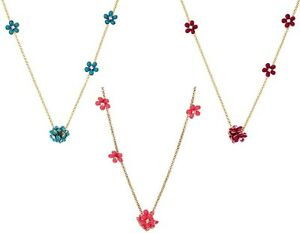 NWT Authentic Juicy Couture Flower Station Strand Necklace